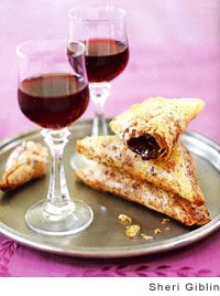 Chocolate-Filled Phyllo Triangles