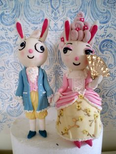 sweet ruby cakes, dressed up bunny #cake #topper