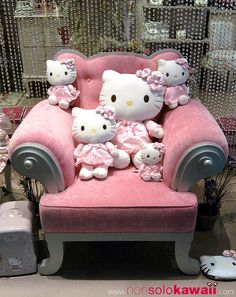 Hello Kitty...I'm a grown woman but something inside of me loves this, the pink chair and everything Hello Kitty...like...if I had a big mansion and there was a wing no one entered...I'd totally have a designated Hello Kitty room...that's stupid, no? LOL I'd also have a room to store my Christmas tree(s) so that I would never have to take them down and set them up again...-Katie D.