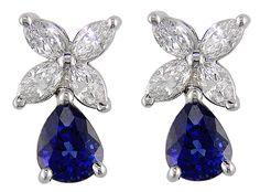 sapphire diamond earrings drop