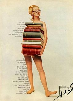 Even back in the day, Hanes knew how to spice up cotton and hoisery; and make reading look good. #ThrowbackThursday #tbt #vintage #Astroglide
