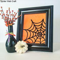Craftaholics Anonymous® | Silhouette Spider Web Art