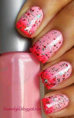 Pretty pink nails!