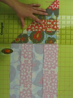 A genius idea for making perfect squares. Now I can get back to a project where my 1/4' seam was a little off, so the strip set is an odd size that would be time consuming to cut. Wonderful!!.