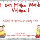 This packet includes 10 printables for making words students cut