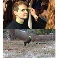 """""""And so, with some green makeup and a moment of solitude, Soren Bowie discovered his own variant on the 'Sad Keanu' meme."""" #idyllwild2013"""