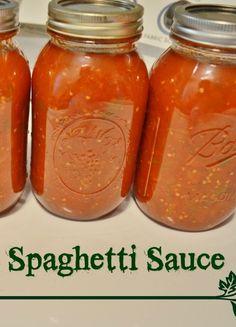 HomeMade Spaghetti Sauce - great canning recipe.