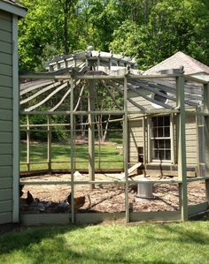 Chicken coops that are over the top on pinterest chicken for Gazebo chicken coop