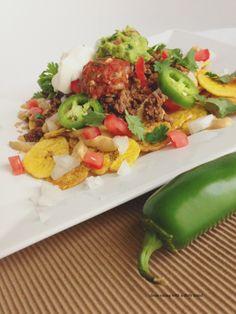 Plantain chip Nachos