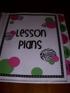 Pre-formatted organized binder for lesson plans, standards, meeting notes, student data, etc. THIS IS AWESOME!