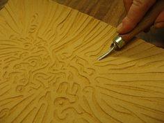 Beautiful lino cut