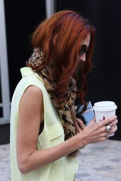 Hair? Slightly redish?