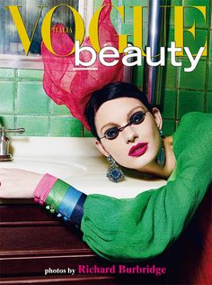 Patricia van der Vliet photographed by Richard Burbridge for Vogue Italia Beauty.
