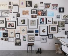 Beautiful gallery wall from Because I'm Addicted.