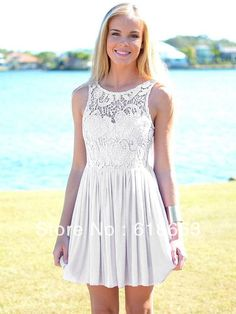 LH0090  Short Mini Lace Homecoming Dresses prom Semi formal dresses Chiffon Under 100 2014-in Homecoming Dresses...