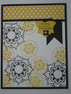 MANY THANKS handmade Stampin Up Thank You card by MadmBlueberry, $2.00