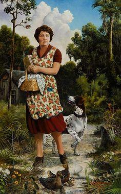 Author Marjorie Kinnan Rawlings at Cross Creek, 1935.