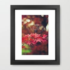 Autumn Delight Framed Art Print by Brandy Coleman Ford -