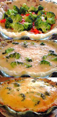 Gluten Free Quiche - with mashed potato crust.