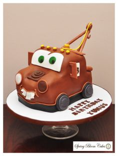 Tow Mater Cake - by SpringBloomCakes @ CakesDecor.com - cake decorating website