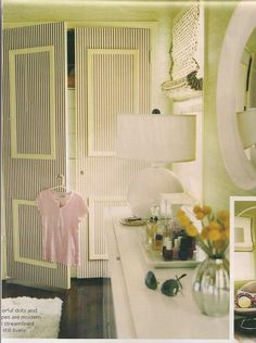 striped closet doors