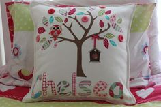 Girls Personalised / Name Cushion | My Little Button | madeit.com.au