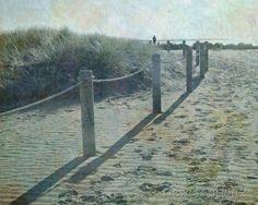 Aged beach print 8x10 New Zealand  nostalgic old by NewCreatioNZ, $20.00