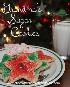 Grandma's Sugar Cookies from @chocolatechocolateandmore.com   A #Christmas favorite #cookies