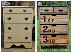 Great dresser redo. Love the potential in old worn-out furniture.