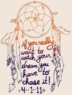 Dream Catcher quote - cute-tattoo