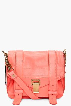 Neon Leather Coral Bag.. So Pretty.