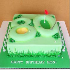 From Sweet Disposition Cakes (AU), Golf Cake. Like the number under the Green