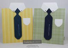 Men's Dress Shirt and Tie Card