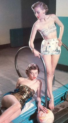 Models in swimsuits by Klein of Montreal, 1950s.