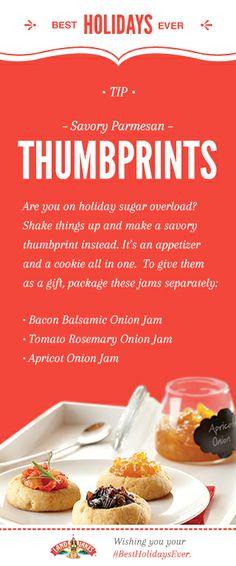 Savory Parmesan Thumbprints and more holiday entertaining recipes. #BestHolidaysEver