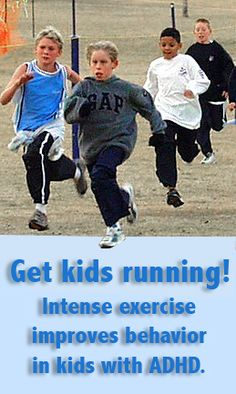 How Running and Exercise can   Impact the Behavior of ADHD Children, http://www.kidsrunning.com/news/krnews0131adhd.html