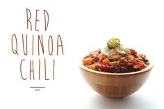 Recipe: Red Quinoa Chili | Free People Blog #freepeople