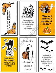Chalkspot Halloween Bookmarks (Grades 4-6) from Chalkspot.com on TeachersNotebook.com -  (1 page)  - Halloween bookmarks to brighten up your October reading!