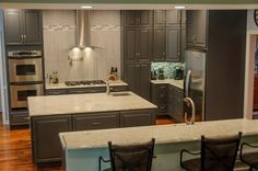 Kitchens gray on pinterest new construction for Kitchen remodel knoxville tn