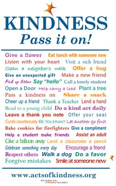 Random acts of kindness!