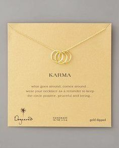 karma rings necklace