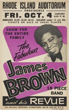 James Brown Rhode Island Auditorium Concert Poster (1963)