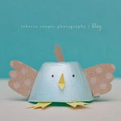 diy tutorial chicks and bunnies from egg carton for easter - crafts for the kids