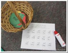 good teacher student center.  plan to use numbers for recognition. sight word practice, classroom ideasliteraci, high frequency words, alphabet letters, apples, kindergarten, educ, sight word games, apple unit