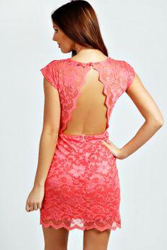 Ellie Lace Scallop Bodycon Dress