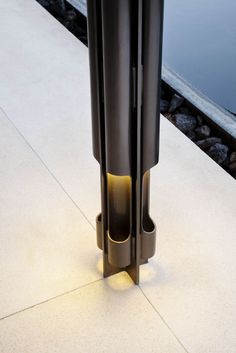 Lighting column at A