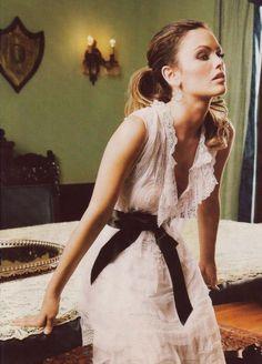 lace dress + lace tablecloth