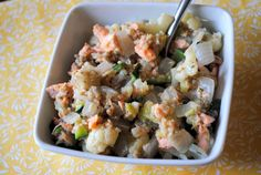 Savory Salmon Oatmeal Hash from Peanut Butter Fingers