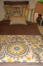 grey and citron dorm bedding set Good color combo for painted floor rug.