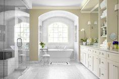 Ansley Park Master Bath - traditional - bathroom   tile, tub, shower and vanity